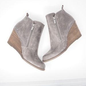 Lucky Brand Yesterr Wedge Bootie, NWT Gray Size 11